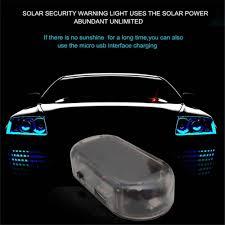 Kebedemm Mới Năng Lượng Mặt Trời Xe Báo Động An Ninh LED Đèn Chống Trộm  Cảnh Báo Trộm Đèn Flash Nhấp Nháy Đèn LED Xe Hơi cho Xe Audi BMW