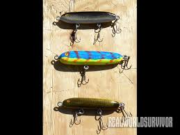 diy make wooden fishing lures