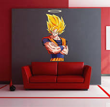 Cik1564 Full Color Wall Decal Dragon Ball Z Anime Characters Children Stickersforlife