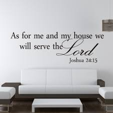 We Will Serve The Lord Christian Quotes Wall Stickers Home Decor Living Room Vintage Kitchen Bedroom Vinyl Wall Decals Art Wallcorners Art Canvas