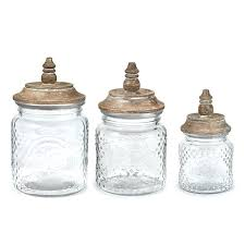 glass canister set sets