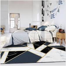 ins black white marble gold strip