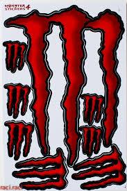 Red Monster Energy Sticker Decal Supercross Motocross By Raciraci 7 95 Monster Energy Monster Stickers Monster