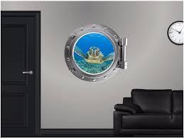 Sea Turtle 3 Porthole Window Wall Decal Ocean Underwater 3d Portscape Vinyl Home Garden Children S Bedroom 3d Decor Decals Stickers Vinyl Art Gastrope Com Br