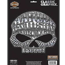 Harley Davidson Medium Willie G Skull Vinyl Window Decal