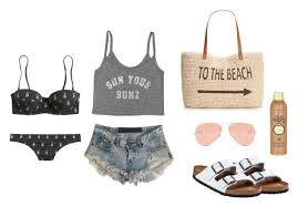 """What a Beach!"""" by abbey-traylor on Polyvore featuring One Teaspoon,  Billabong, Ray-Ban, Birkenstock, Style & Co., Sun B… 