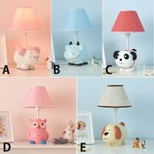 Coolie 1 Light Reading Light With Cute Animal Resin Base Baby Kids Room White Finish Table Lamp Beautifulhalo Com