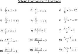 solving equations with fractions and