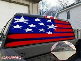 Details About Red Blue Flag Rear Window Tint Graphic Decal Sticker Wrap Pickup Truck Suv D32 Red And Blue Flag Rear Window Red And Blue