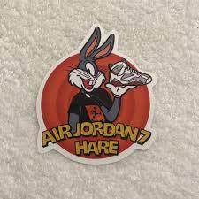 Air Jordan 7 Hare Sticker Shipped Via Usps Depop