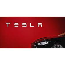 Huge 60x8 Tesla Wall Vinyl Decal White