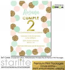 Invitacion Segundo Cumpleanos Nina Girl 2nd Birthday Invites