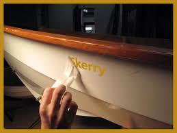 Custom Vinyl Boat Lettering Gold