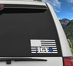 Amazon Com Celycasy Igy6 I Got Your Six Vinyl Decal Thin Blue Line Flag Suicide Prevention Military Veteran I Got Your Back Blue Life Matter Ptsd Baby
