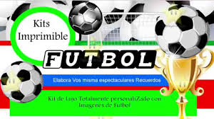 Kit Imprimible Futbol Decoraciones Cajitas E Invitaciones Youtube