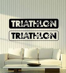 Vinyl Wall Decal Triathlon Inscription Sports Swimming Cy Https Www Amazon Com Dp B07qmnn5nh Ref Cm Sw R Pi Dp X Vinyl Wall Decals Vinyl Wall Wall Decals