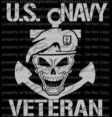 Navy Skull Veteran Vinyl Decal Sticker United By Lilbitolove On Zibbet
