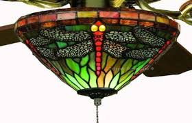 dragonfly stained glass ceiling fan