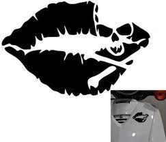 Amazon Com Binglinghua 10x14cm Kiss Mark Skull Lip Sexy Decal Sticker Girl Lipstick For Laptop Cars Truck Window Bumper Stickers Pack Of 5 Arts Crafts Sewing