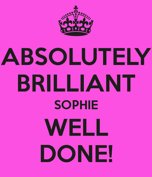 Image result for sophie well done""