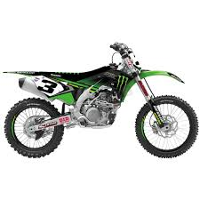 D Cor Visuals Kawasaki Monster Energy Graphics Kit 10 20 748 Dirt Bike Motocross Dennis Kirk