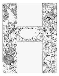 Letter H Kleurplaat Adult Coloring Pages Farglaggningssidor
