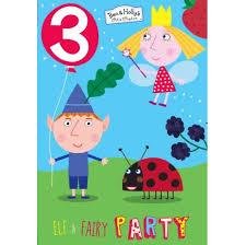 Ben And Holly Edad 3 Tarjeta De Cumpleanos Casa Jardin Y