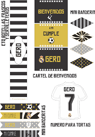 Kit Imprimible Diseno Equipo De Futbol Real Madrid Mariademialma