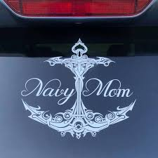 Navy Mom Large 9 Car Decal Fancy Anchor Military Mom Navy Mom Navy Mom Shirt