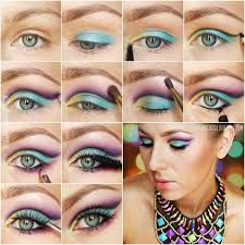 makeup tutorial step by step colourful