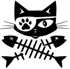 Amazon Com Pirate Cat Fish Crossbones Vinyl Decal Sticker Cars Trucks Vans Suvs Windows Walls Cups Laptops Black 5 5 Inch Kcd2373 Automotive