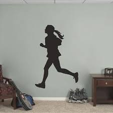 Girl Running Wall Decal Sports Running Hobby Locker Room Etsy Sports Wall Decals Sports Wall Wall Decals