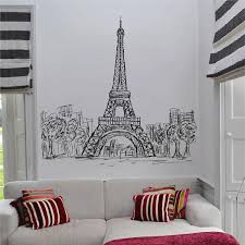 Ik2477 Wall Decal Sticker Eiffel Tower Paris France Living Room Bedroo Stickersforlife