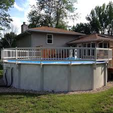 Shop Vinyl Works Taupe Resin 24 Inch 8 Section Above Ground Pool Fence Base Kit Overstock 12050516