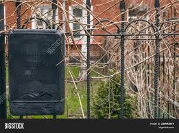 Mailbox On Iron Fence Image Photo Free Trial Bigstock