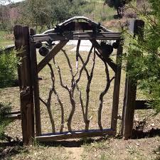 garden gate just got a new cedar fence
