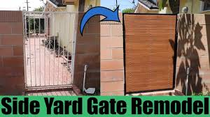 Diy Side Yard Gate Remodel Youtube