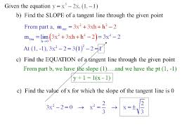 1 6 tangent lines and slopes slope of