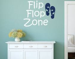 Flip Flop Wall Decal Etsy