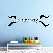 Accept Urself Yoga Wall Decal Vinyl Sticker Wall Decor Home Interior Design Art Mural Osho Quote Vk80 Wi Vinyl Wall Decal Quote Wall Decor Stickers Wall Decals
