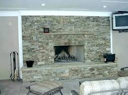 images of stacked stone fireplaces