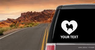 Samoyed Heart Car Window Decal Vinyl Sticker Custom Gifts Etc
