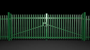 Artstation Pallisade Security Fences Gates With An Abloy Padlock Oliver Eales