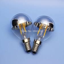 2 Chiếc Bạc G45 2W 100 V 110V 120 V 220V E14 E12 E27 E26 Đèn LED Dây Tóc bóng  Đèn Gương Nửa Chrome Quả Cầu Phòng Ngủ Vintage Ánh Sáng Đèn|