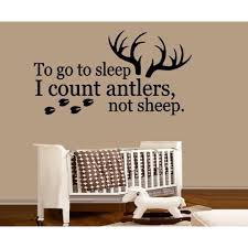 Decal To Go To Sleep I Count Antlers Not Sheep 2 Wall Decal 13 X 25 Walmart Com Walmart Com