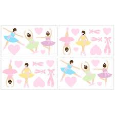 Shop Sweet Jojo Designs Ballet Dancer Ballerina Wall Decal Stickers Set Of 4 Overstock 7599423