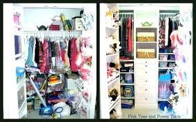 organize a small closet on a budget