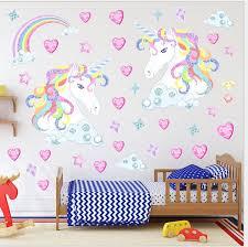 Unicorn Wall Stickers Rainbow Wall Kids Girls Bedroom Hearts Stars Nursary Decal Vinyl Wall Murals Vinyl Wall Quotes From Mengmeng 2020 6 03 Dhgate Com
