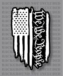 American Flag We The People 1776 2a Liberty Freedom Weathered 3 Decal Firehouse Graphics