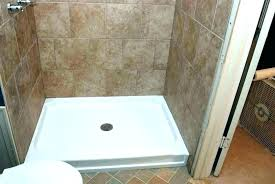 cost to install tile shower pan